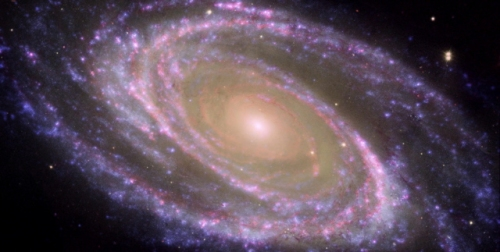 M81 Galaxy is Pretty in Pink