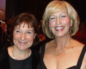 Newly published author Janis Lee Thereault and best-selling author Linda Howard